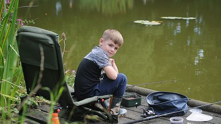 A young angler enjoying Docking Angling Club's junior fish-in. Picture: Chris Bishop