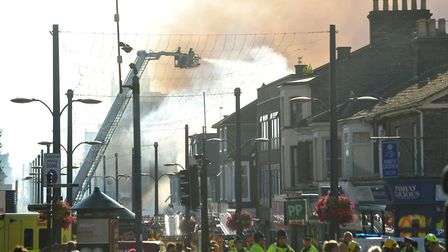 Emergency services attend the scene of a fire on regent Road, Yarmouth.PHOTO: Nick Butcher