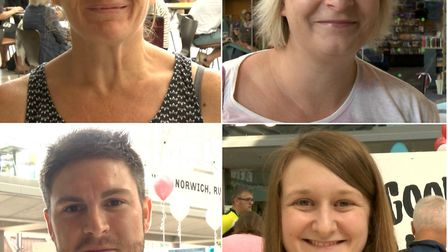 This year's Run Norwich participants include, from top left, Marie Kenworthy, Louise Robinson, Kate