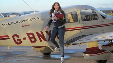 Carol Vorderman will officially open a new �12m aviation academy at Norwich Airport today.. Picture: