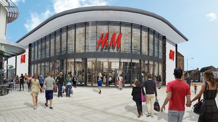 An artist's impression of how the new H&M in King's Lynn will look. Picture: LAP