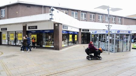 The former Beales store, which is being redeveloped. Picture: Ian Burt