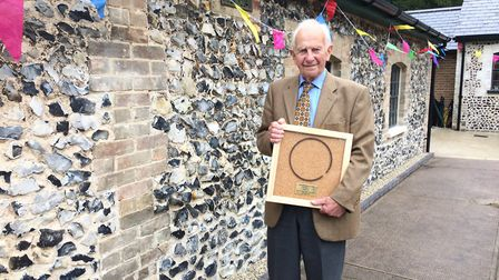 Ronald Rule outside the restored Brandon Engine House. He was born and grew up on Brandon Park estat