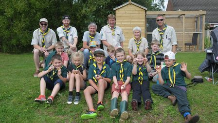 The 2nd Reepham Scout Group taking a break from the action. Picture: John Bailey