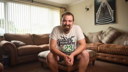 Thomas Colley, from Stalham, who has schizoaffective disorder. Picture : ANTONY KELLY