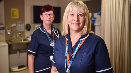 NHS charge nurses Debbie Chowns, left, and Kate Stelling. Picture : ANTONY KELLY