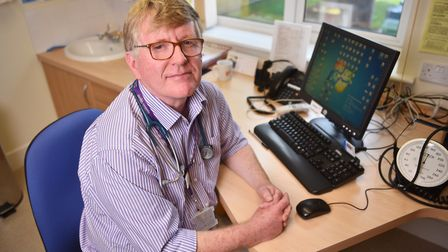 Dr Andrew Emerson at Bungay Medical Practice. Picture : ANTONY KELLY