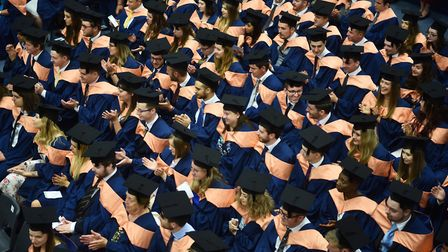 Students graduating from UEA. Picture : ANTONY KELLY