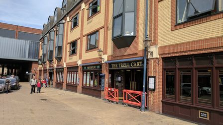 The front seats have been removed.The Troll Cart Wetherspoon pub in Great Yarmouth has closed for re
