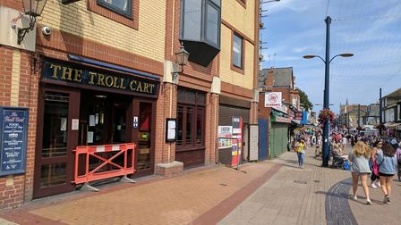 The neighbouring building will be demolished to make way for a beer garden.The Troll Cart Wetherspoo