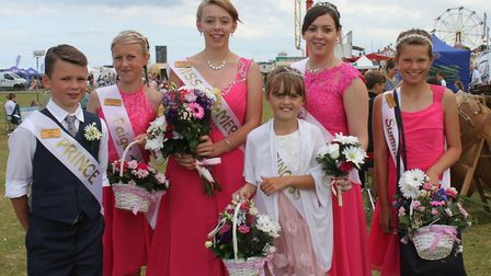 Cromer carnival 'royal' family stop off to greet visitors to the family fun day. Picture: KAREN BETH