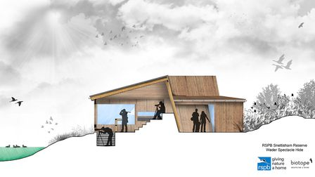An impression of the design of the proposed new hide at RSPB Snettisham. Image: RSPB