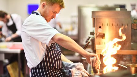 Chef of the Year competition at City College. Picture : ANTONY KELLY
