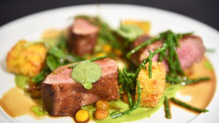 Chef of the Year competition at City College. Dish by Charlie Wilson. Picture : ANTONY KELLY