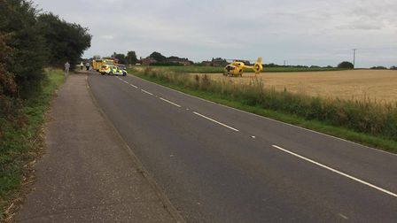 There was a serious crash in Rollesby on Sunday. Photo: Victoria Sophia Castillo