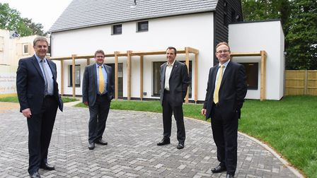 One of the Passivhaus eco standard homes at Carrowbreck Meadow at Hellsdon - built in partnership by