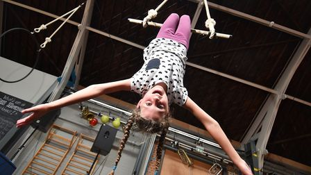 Circus skills workshop at the Drill House, Great Yarmouth. Imogen Marjoram. Picture : ANTONY KELLY