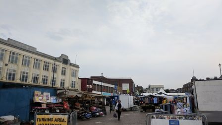 Great Yarmouth two day market. August 2017. Photo: George Ryan
