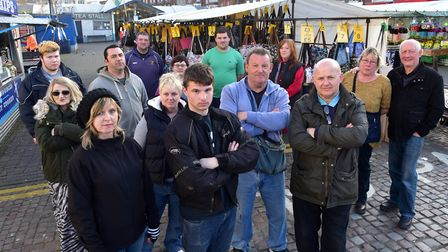 Yarmouth market traders are angry at rent rises. PHOTO: Nick Butcher