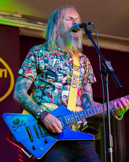 Rock and roll was on the agenda with The Weirdy Beardy Band. Picture: Charlie Ketchen Photography