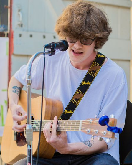 Joe Behan performs on the Lil Chris stage. Picture: Charlie Ketchen Photography