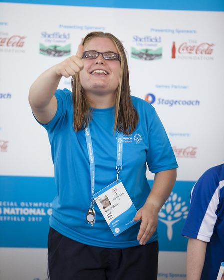 Sarah Zima from Hempnall who won gold in the pool. Picture: Michael Lyons