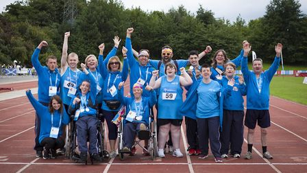 SON athletes and their coaches are all smiles during a winning week in Sheffield. Picture: Michael L