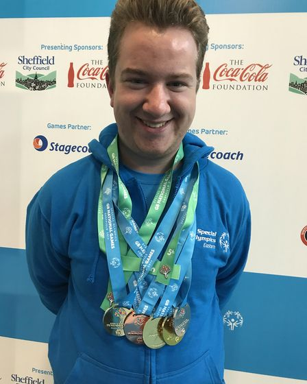 Shane Baxter, winner of five golds, a silver and a bronze in artistic gymnastics. Picture: Nicola Ba