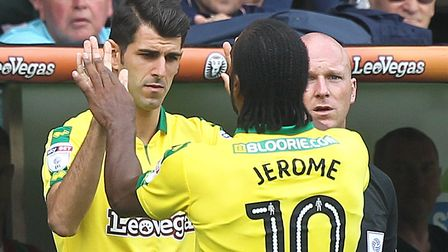 Who starts against Aston Villa on Saturday - Nelson Oliveira or Cameron Jerome? Picture: Paul Cheste