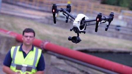 A drone takes to the air with the aim of spotting changes in soil temperature possibly produced by l