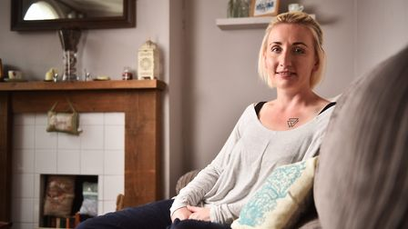 Sarah Booton, from Norwich, who has borderline personality disorder. Picture : ANTONY KELLY
