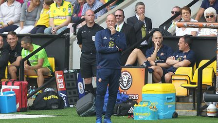 Sunderland Manager Simon Grayson during the Sky Bet Championship match at Carrow Road, NorwichPictu