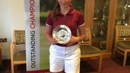 Hope Neild with her regional winners' prize at the Abraham Trophy. Picture: Carol Delf