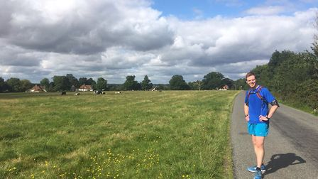 Mark Armstrong on a training run - he's smiling because it's near the end. Picture: Alison Armstrong