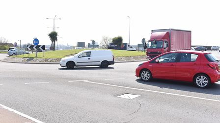 The Vauxhall Roundabout on the Acle New Road in Great Yarmouth. April 2016. Picture: James Bass