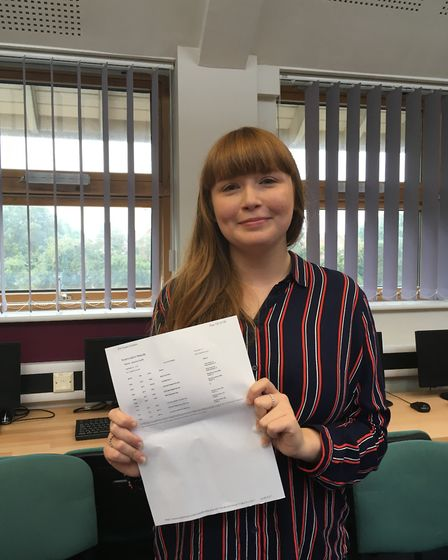 Jess Parfitt, 18, achieved 3 As and a B and will study medicine at the UEA from September. Photo: ED