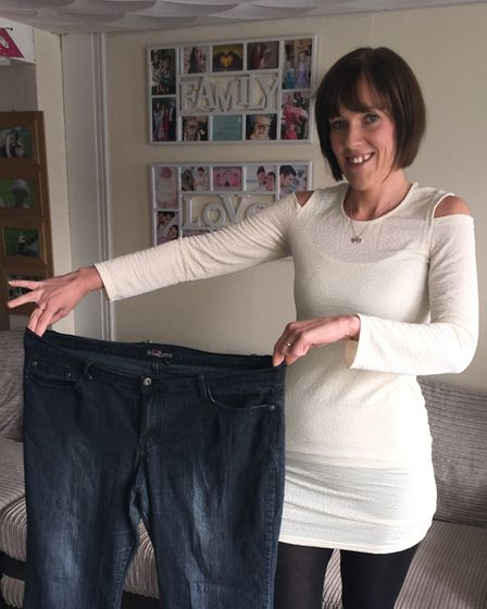 Michelle Prue after dropping from a size 22/24 to a size 10. Picture: Amy Smith