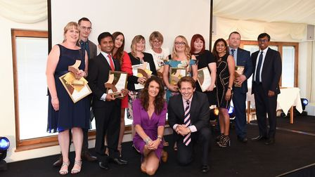 The long service award winners at the annual Kingsley Healthcare Care Awards. Picture: Sam Markwell.