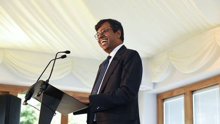 Kingsley CEO Daya Thayan speaking at the annual Kingsley Healthcare Care Awards. Picture: Sam Markwe