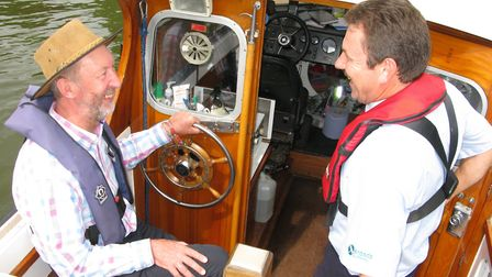 Broads Authority Chief Executive John Packman and ranger Jon Hopes. Picture: Andrew Stone