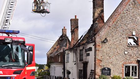A fire broke out overnight at The Ingham Swan pub. PICTURE: NICK BUTCHER