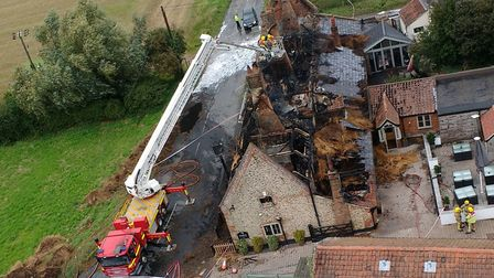 A fire broke out overnight at The Ingham Swan pub. Picture: Christine Mcclean