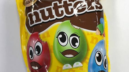 Nutters sweets sold in Poundland. Photo: Geraldine Scott
