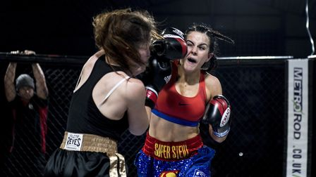 Stevi-Ann Levy impressed again in her win over Leanne Bull at Contenders 20. Pictures: MATYAS PAUL