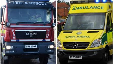 A partnership between firefighters and ambulance staff in Norfolk is coming to an end. Photo: Archan