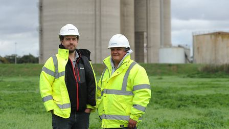 Tom Powling and Paul Davies from Geosphere Environmental. Picture: SARAH LUCY BROWN