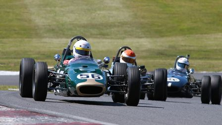 Historic FF1600 action from Cadwell Park. Picture: Paul Lawrence