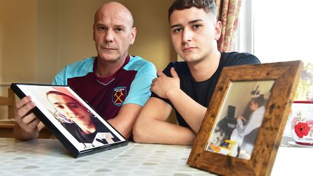 Lee Barrett (left) who lost his son Connor to a knife attack in 2014. Photo: Nick Butcher