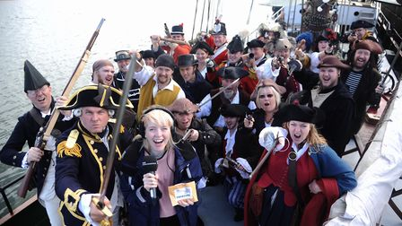 With the crew at the Wells Pirate Festival is Radio Norfolk's Travel Quest clue hunter, Sophie Littl