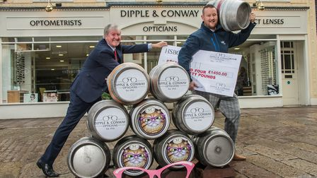 Damian Conway, director of Dipple & Conway Opticians, celebrates the success of Cat�s Eyes ale with
